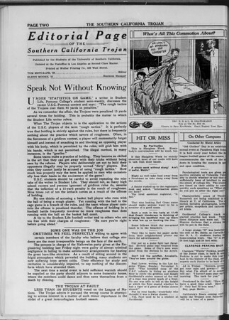 The Southern California Trojan, Vol. 11, No. 15, November 05, 1919