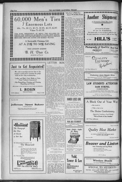 The Southern California Trojan, Vol. 12, No. 35, December 01, 1920