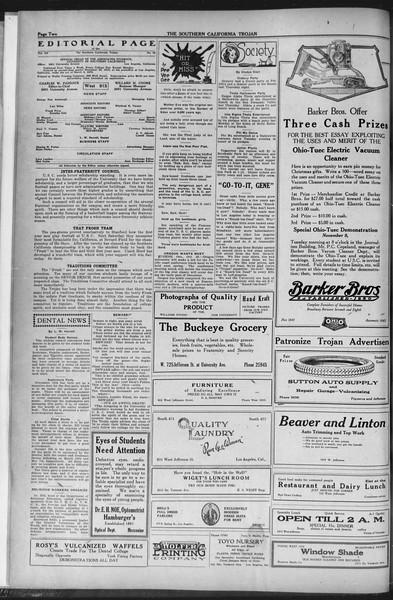 The Southern California Trojan, Vol. 12, No. 23, November 04, 1920