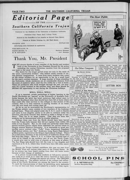 The Southern California Trojan, Vol. 11, No. 29, December 05, 1919