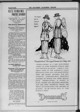 The Southern California Trojan, Vol. 11, No. 23, November 21, 1919