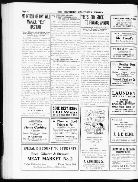 The Southern California Trojan, Vol. 8, No. 64, February 08, 1917