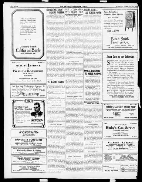 The Southern California Trojan, Vol. 14, No. 54, February 13, 1923