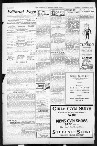 Daily Trojan, Vol. 17, No. 7, September 24, 1925
