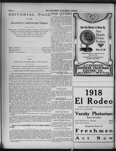 The Southern California Trojan, Vol. 9, No. 38, April 09, 1918