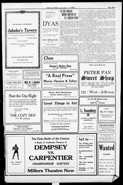 The Southern California Trojan, Vol. 13, No. 3, September 23, 1921