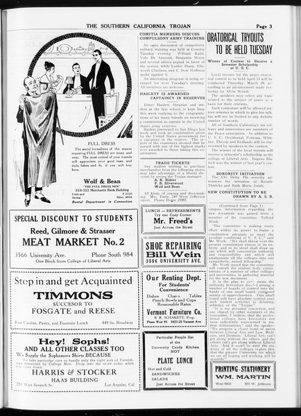 The Southern California Trojan, Vol. 8, No. 78, March 08, 1917