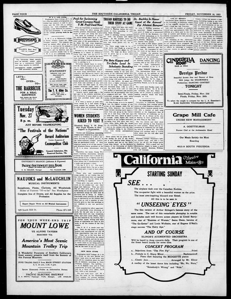 The Southern California Trojan, Vol. 15, No. 23, November 16, 1923