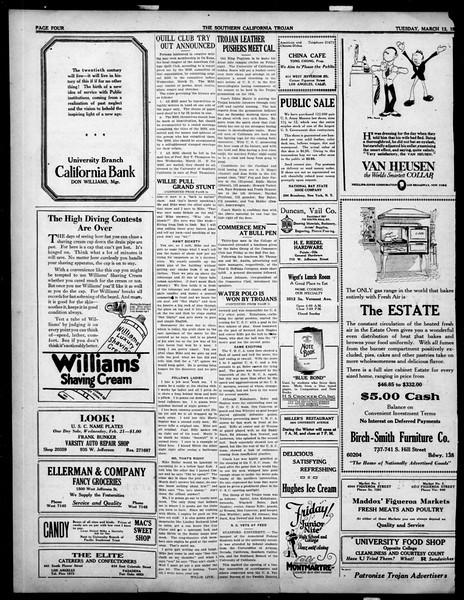 The Southern California Trojan, Vol. 14, No. 67, March 13, 1923