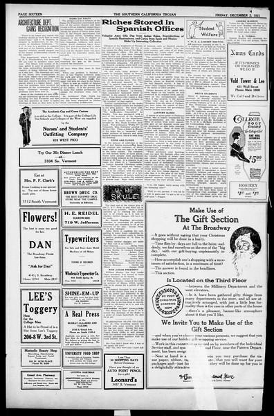 The Southern California Trojan, Vol. 13, No. 24, December 02, 1921