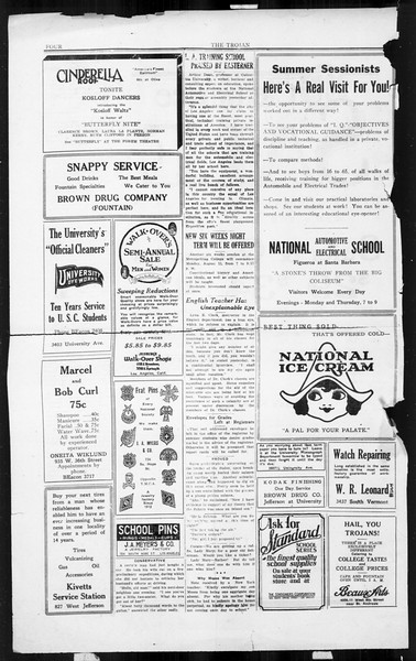 The Southern California Trojan, Vol. 3, No. 12, August 08, 1924