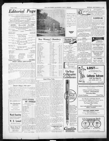 Daily Trojan, Vol. 17, No. 9, September 28, 1925