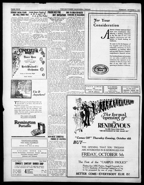 The Southern California Trojan, Vol. 15, No. 4, October 02, 1923