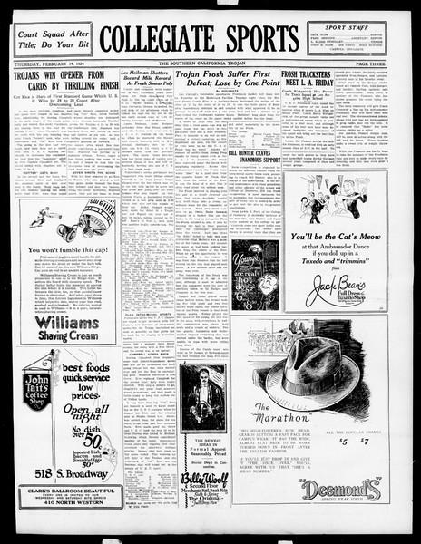 The Southern California Trojan, Vol. 15, No. 50, February 14, 1924