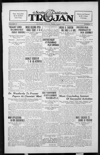 The Southern California Trojan, Vol. 4, No. 11, August 04, 1925