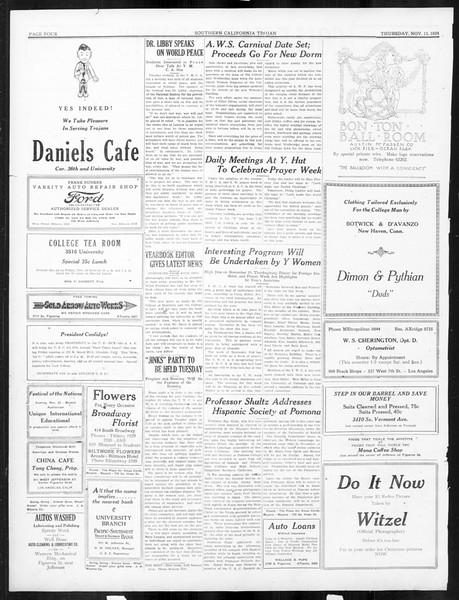 The Southern California Trojan, Vol. 16, No. 22, November 13, 1924