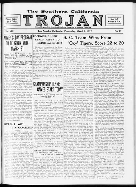 The Southern California Trojan, Vol. 8, No. 77, March 07, 1917