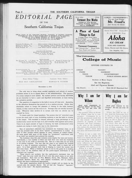 The Southern California Trojan, Vol. 8, No. 27, November 02, 1916