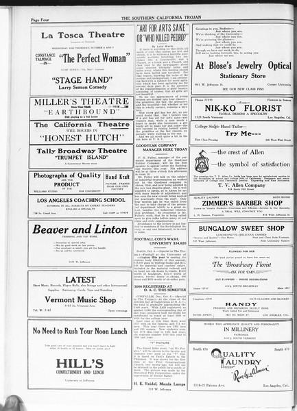 The Southern California Trojan, Vol. 12, No. 7, October 06, 1920