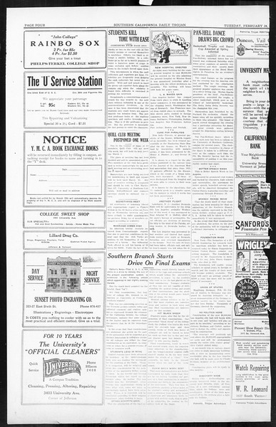 Daily Trojan, Vol. 16, No. 55, February 24, 1925