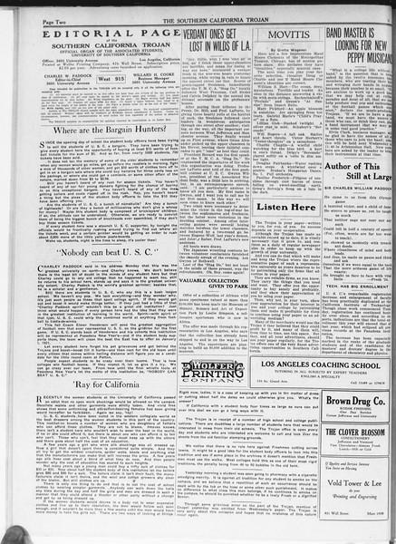 The Southern California Trojan, Vol. 12, No. 4, September 30, 1920