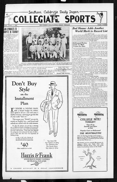 Daily Trojan, Vol. 16, No. 82, April 03, 1925