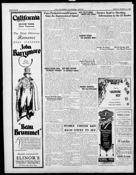 The Southern California Trojan, Vol. 15, No. 65, March 21, 1924