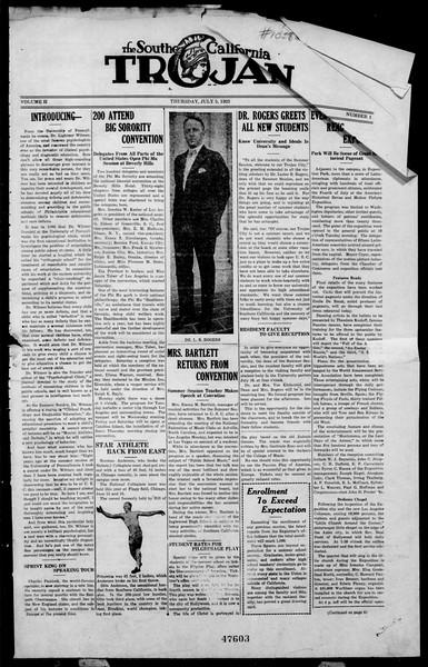 The Southern California Trojan, Vol. 2, No. 1, July 05, 1923