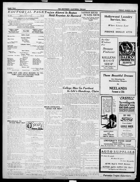 The Southern California Trojan, Vol. 14, No. 69, March 16, 1923