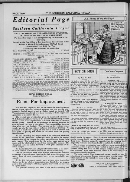 The Southern California Trojan, Vol. 11, No. 35, December 17, 1919