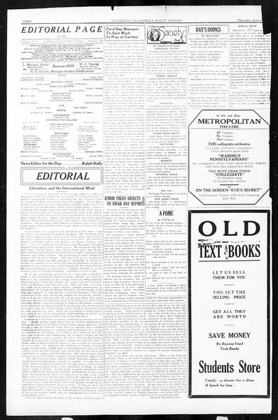 Daily Trojan, Vol. 16, No. 120, June 04, 1925