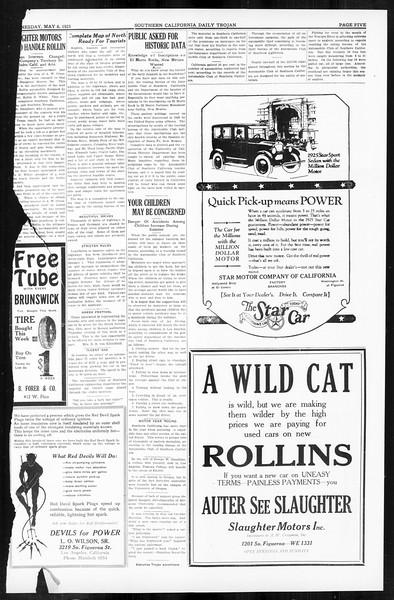 Daily Trojan, Vol. 16, No. 99, May 06, 1925