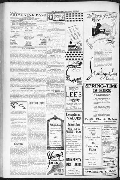 The Southern California Trojan, Vol. 12, No. 83, May 25, 1921