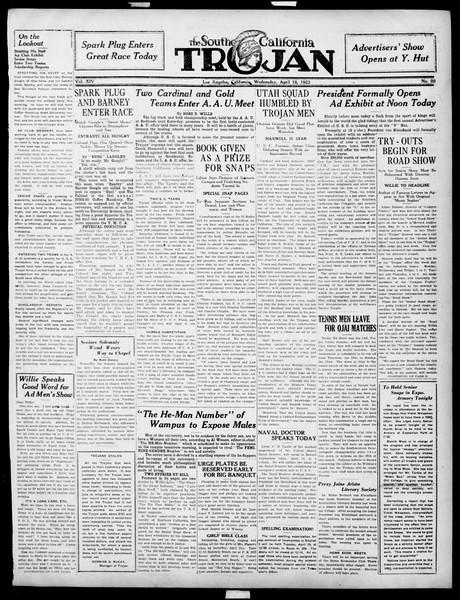 The Southern California Trojan, Vol. 14, No. 80, April 18, 1923