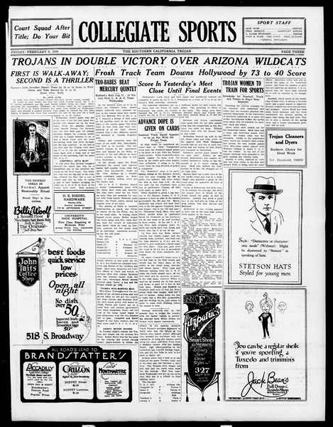 The Southern California Trojan, Vol. 15, No. 48, February 08, 1924