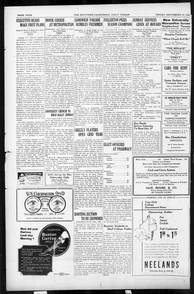Daily Trojan, Vol. 17, No. 8, September 25, 1925