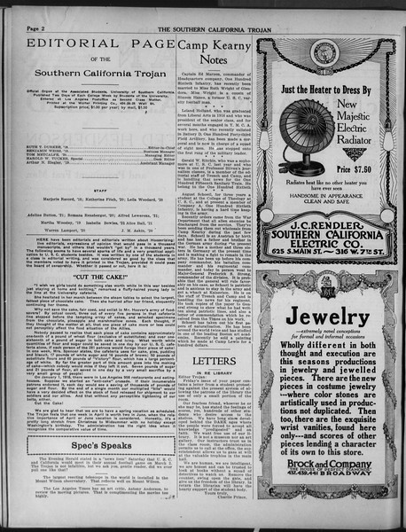 The Southern California Trojan, Vol. 9, No. 33, March 12, 1918