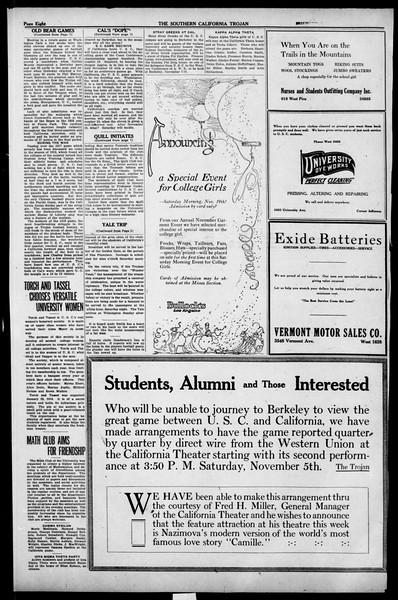 The Southern California Trojan, Vol. 13, No. 17, November 03, 1921