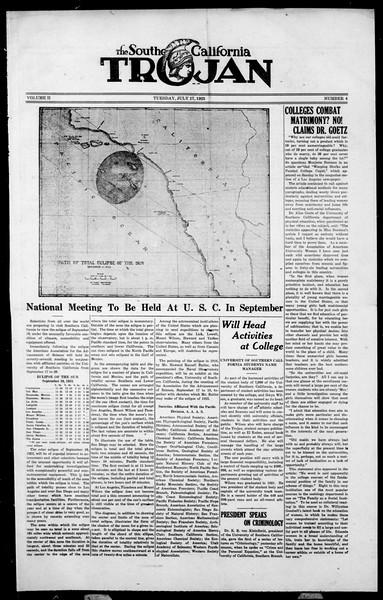 The Southern California Trojan, Vol. 2, No. 4, July 17, 1923