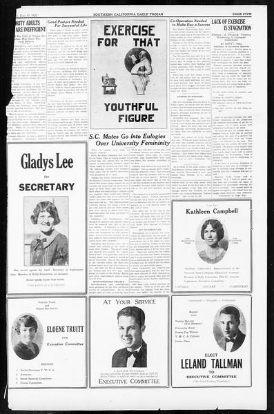 Daily Trojan, Vol. 16, No. 108, May 19, 1925