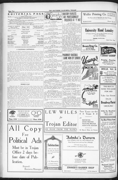 The Southern California Trojan, Vol. 12, No. 77, May 04, 1921