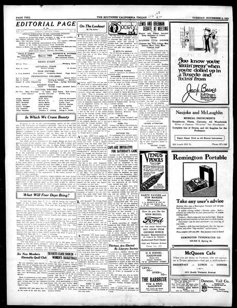 The Southern California Trojan, Vol. 15, No. 19, November 06, 1923