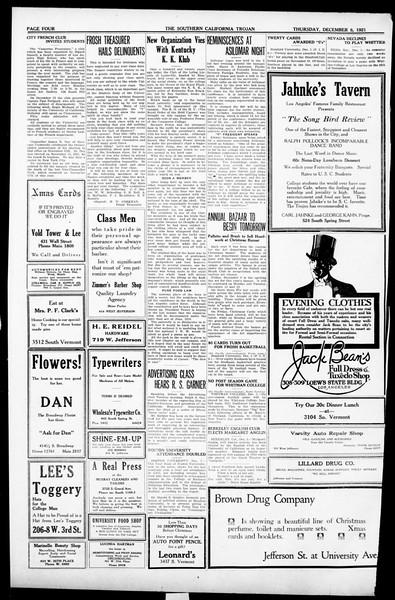 The Southern California Trojan, Vol. 13, No. 27, December 08, 1921