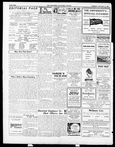 The Southern California Trojan, Vol. 15, No. 41, January 15, 1924
