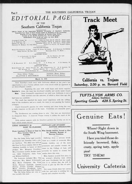 The Southern California Trojan, Vol. 7, No. 86, March 15, 1916