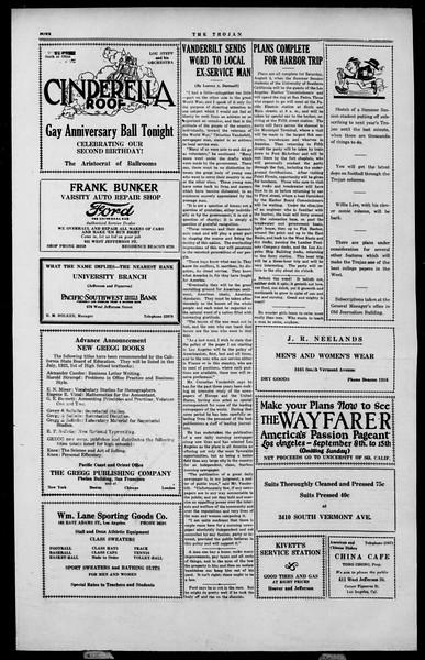 The Southern California Trojan, Vol. 2, No. 9, August 03, 1923