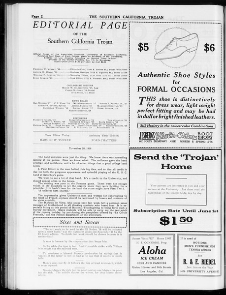 The Southern California Trojan, Vol. 8, No. 39, November 27, 1916