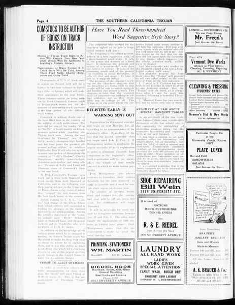 The Southern California Trojan, Vol. 8, No. 56, January 17, 1917