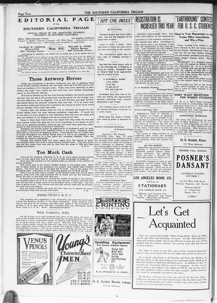 The Southern California Trojan, Vol. 12, No. 2, September 28, 1920