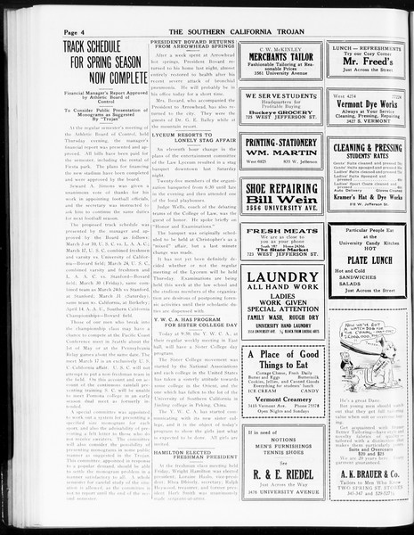 The Southern California Trojan, Vol. 8, No. 59, January 23, 1917